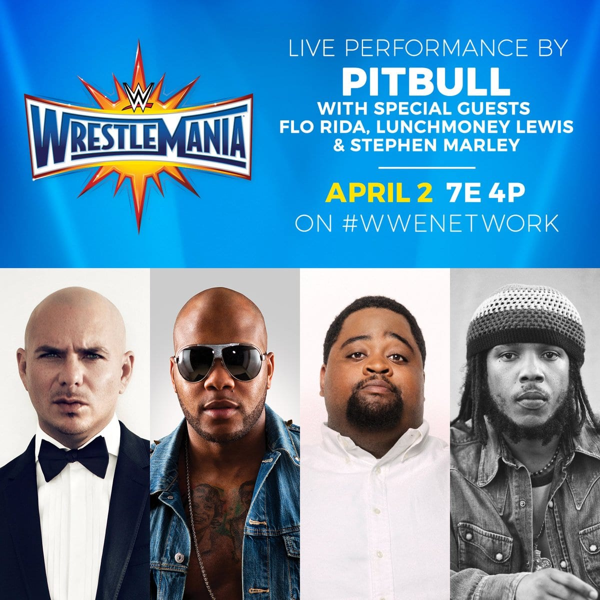 Pitbull to perform at WrestleMania 33