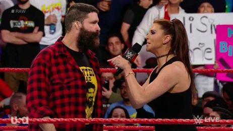 Stephanie McMahon fires Mick Foley on RawStephanie McMahon fires Mick Foley on Raw