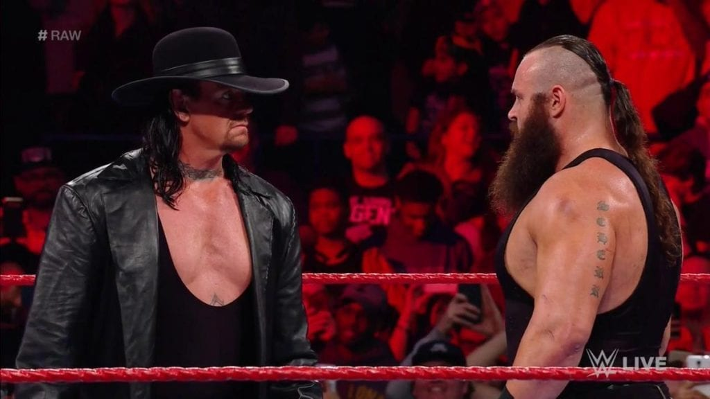 The Undertaker & Braun Strowman in the same ring on Raw