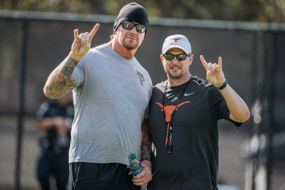 The Undertaker at the Texas Longhorns practice session at the University of Texas