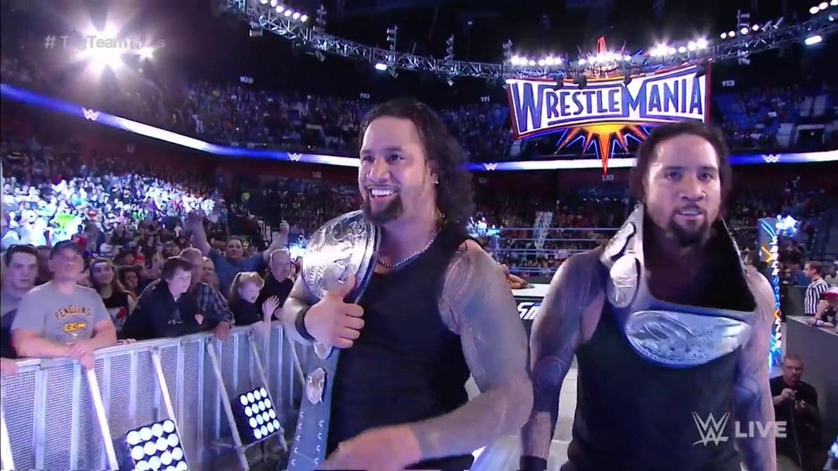 The Usos defeat American Alpha to win the SmackDown Tag Team Titles on SmackDown Live