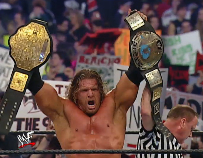 Triple H wins the WWF Undisputed Championship at WrestleMania 18