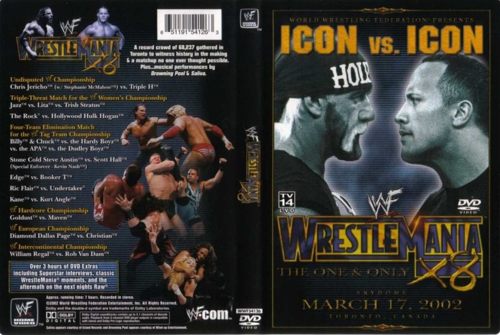 WrestleMania 18 DVD Cover