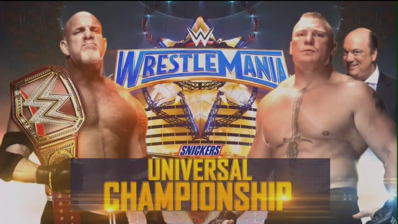 WrestleMania 33 - Goldberg vs. Brock Lesnar for the WWE Universal Championship