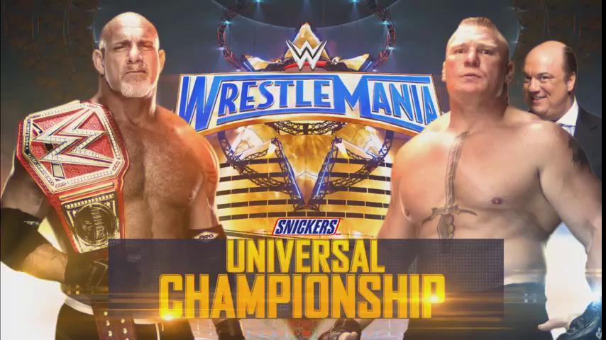 WrestleMania 33 Main Event - Goldberg vs. Brock Lesnar for the WWE Universal Championship