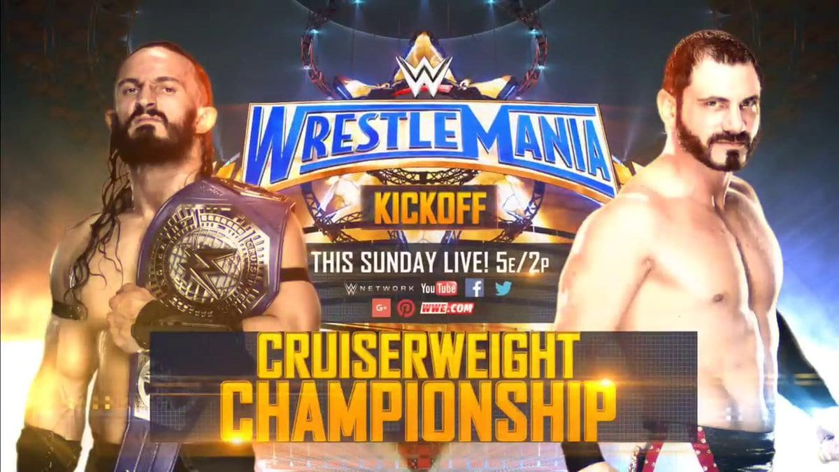 WrestleMania 33 - Neville vs. Austin Aries for the WWE Cruiserweight Championship (Kickoff Show match)
