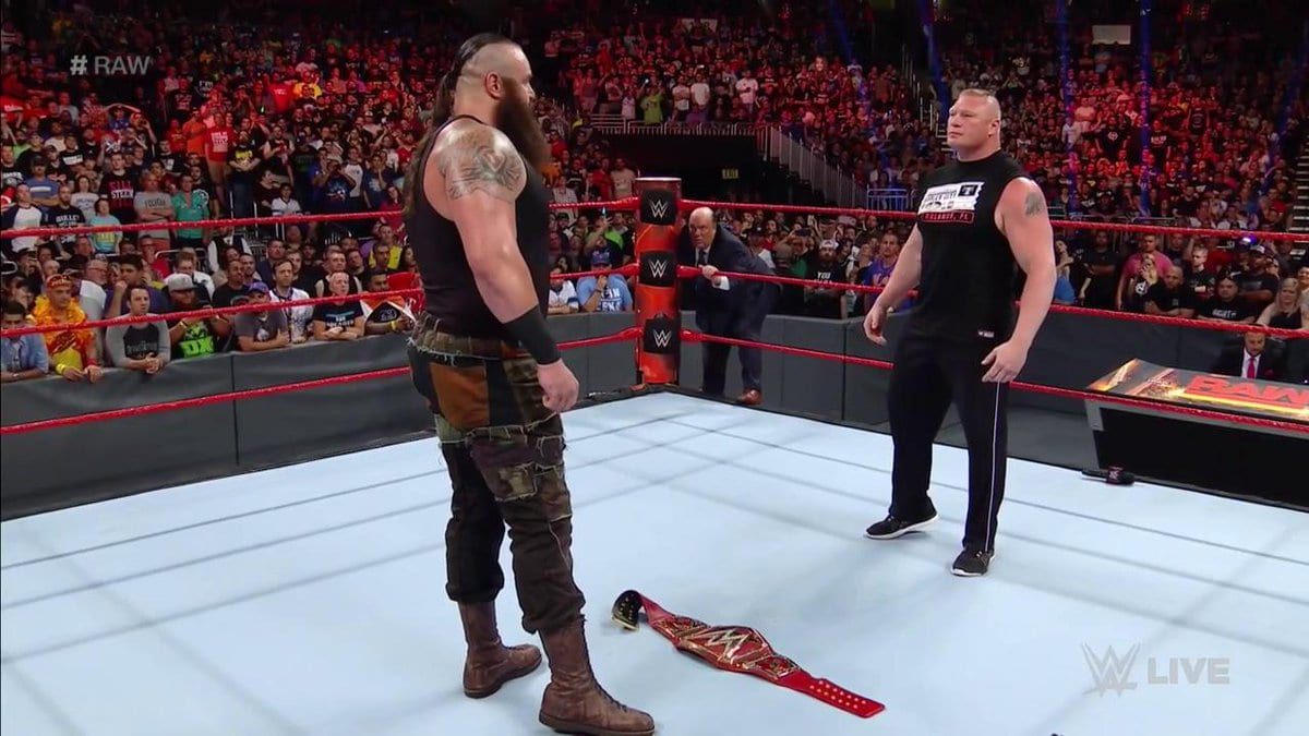 Braun Strowman challenges WWE Universal Champion Brock Lesnar on Raw after WrestleMania 33