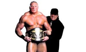 Brock Lesnar WWE Undisputed Champion with Paul Heyman
