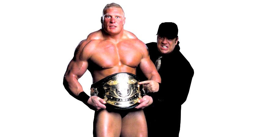 Brock Lesnar WWE Undisputed Champion with Paul Heyman