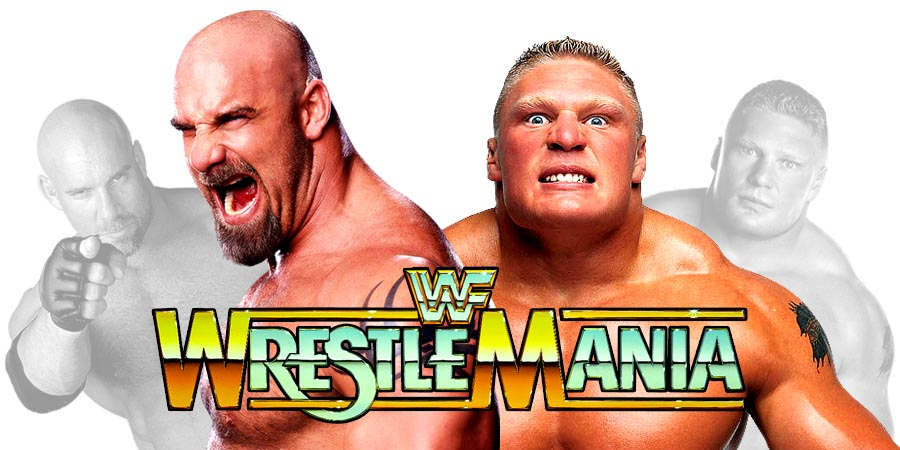 Brock Lesnar defeats Goldberg clean at WrestleMania 33