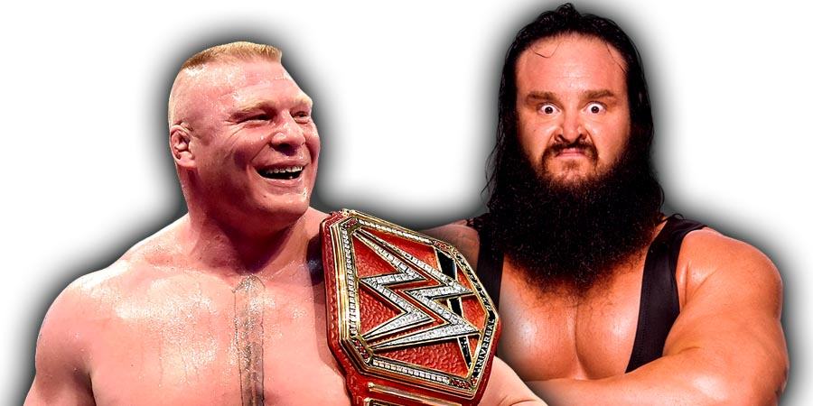 Brock Lesnar vs. Braun Strowman - WWE Universal Championship Match