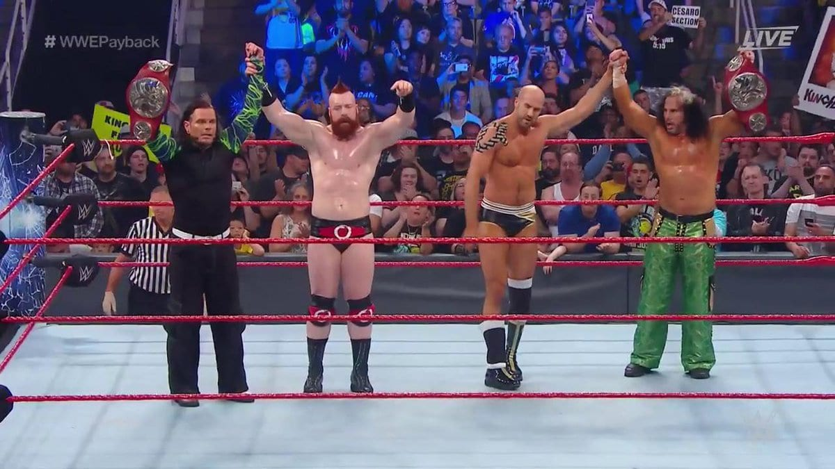 Cesaro & Sheamus turn heel at Payback 2017 and attack Raw Tag Team Champions The Hardy Boyz