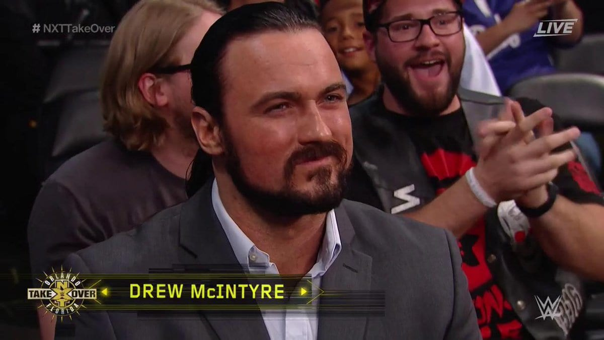 Former WWE Superstar & Former TNA World Heavyweight Champion Drew McIntyre appears at NXT TakeOver: Orlando
