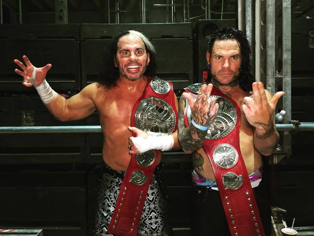 Hardy Boyz return and win the Raw Tag Team Titles at WrestleMania 33