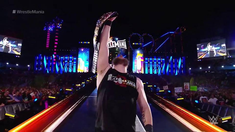 Kevin Owens win the United States Championship at WrestleMania 33