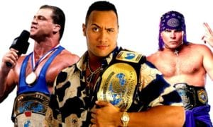 Kurt Angle, The Rock, Jeff Hardy