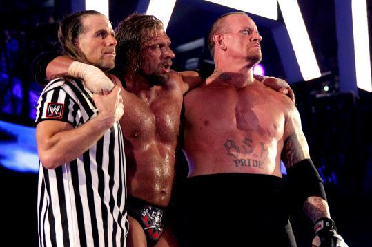 The Undertaker, Triple H & Shawn Michaels at WrestleMania 28 - End of an Era