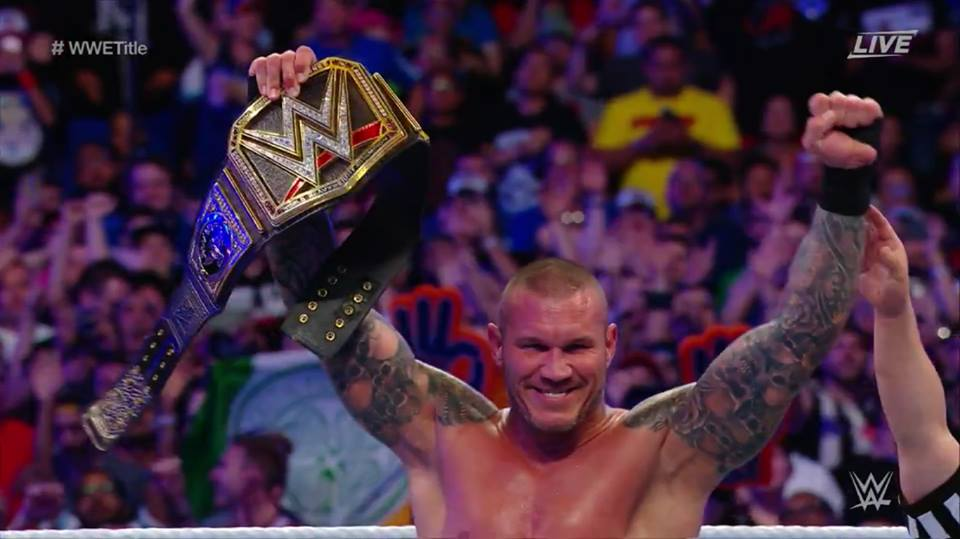 Randy Orton wins WWE Championship at WrestleMania 33 - Randy Orton becomes 13 time World Champion at WrestleMania 33