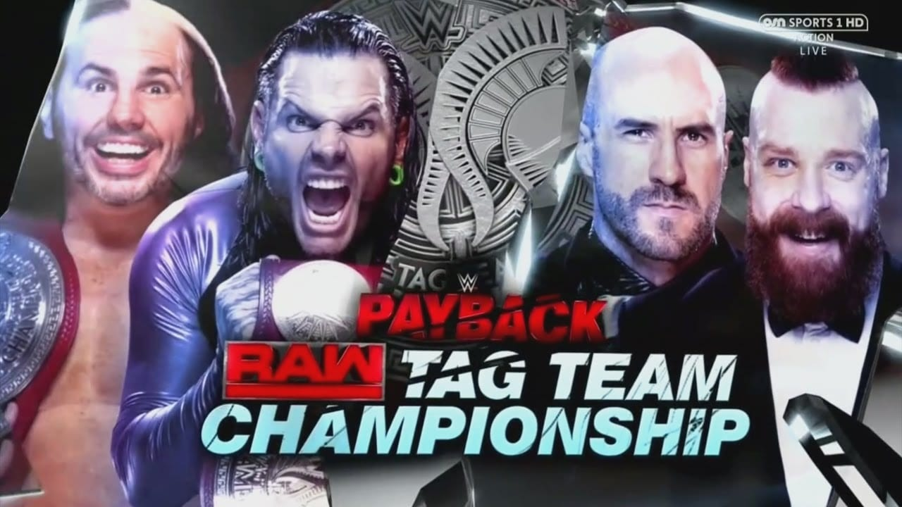 The Hardy Boyz vs. Cesaro & Sheamus - Payback 2017 (Raw Tag Team Championship)