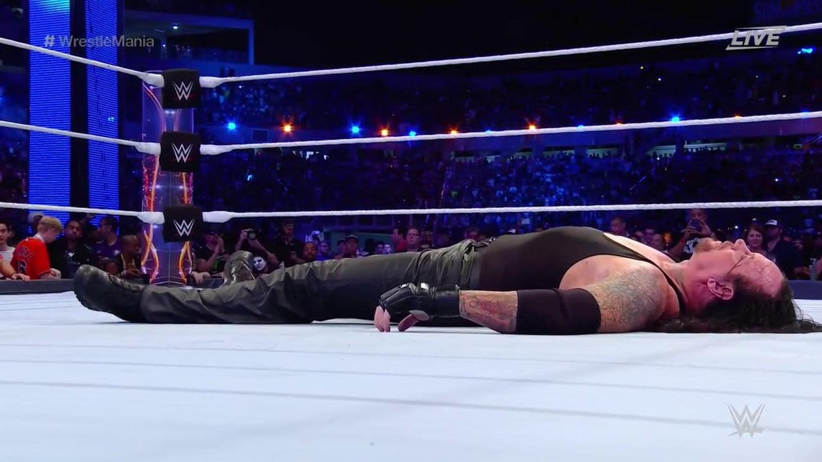 The Undertaker loses to Roman Reigns at WrestleMania 33