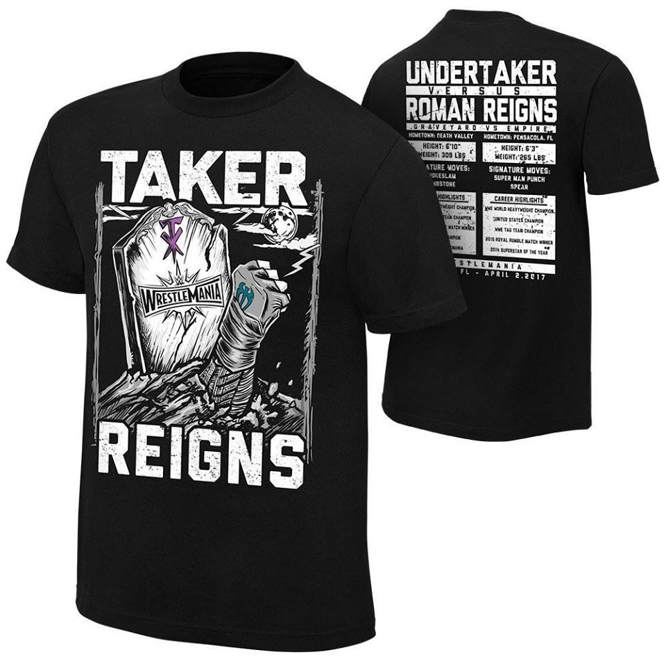 The Undertaker vs. Roman Reigns - WrestleMania 33 T-Shirt