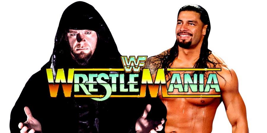 The Undertaker vs. Roman Reigns to main event WrestleMania 33