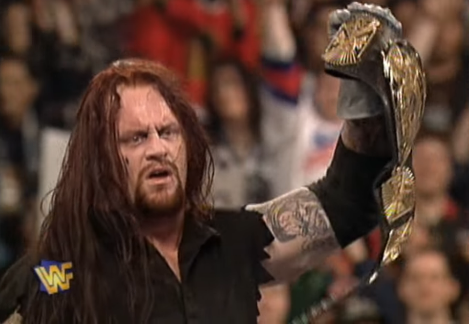 The Undertaker wins the WWF Championship at WrestleMania 13