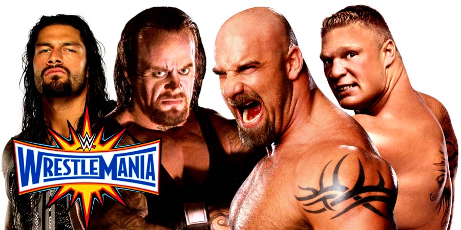 WrestleMania 33 (Live Coverage & Results) - Goldberg vs. Brock Lesnar, The Undertaker vs. Roman Reigns & More