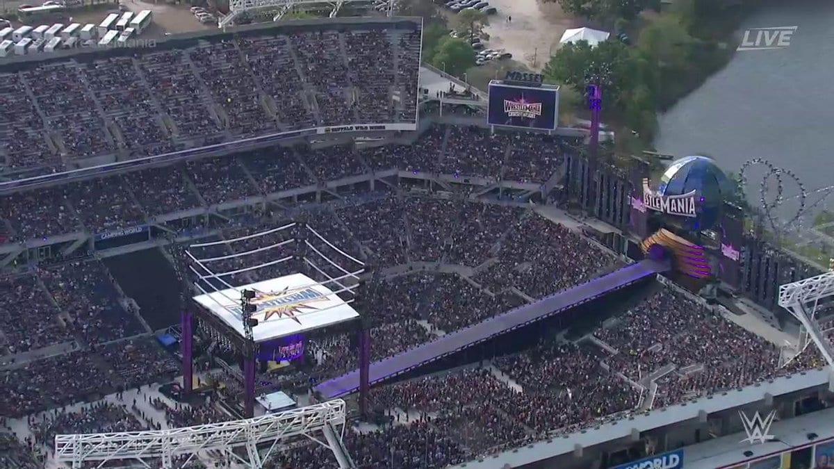 WrestleMania 33 Stadium 75,000 people
