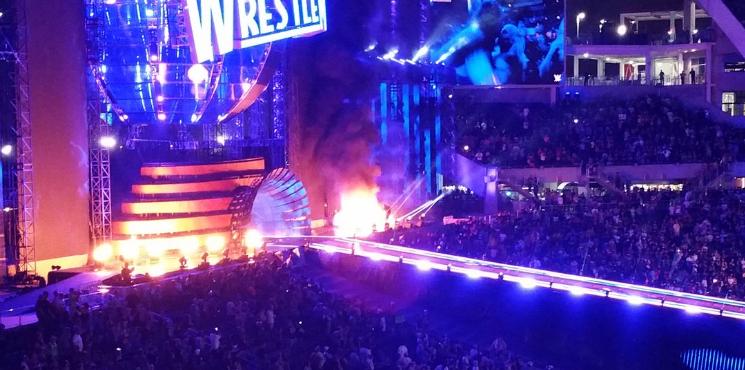 WrestleMania 33 set catches fire after The Undertaker's final match