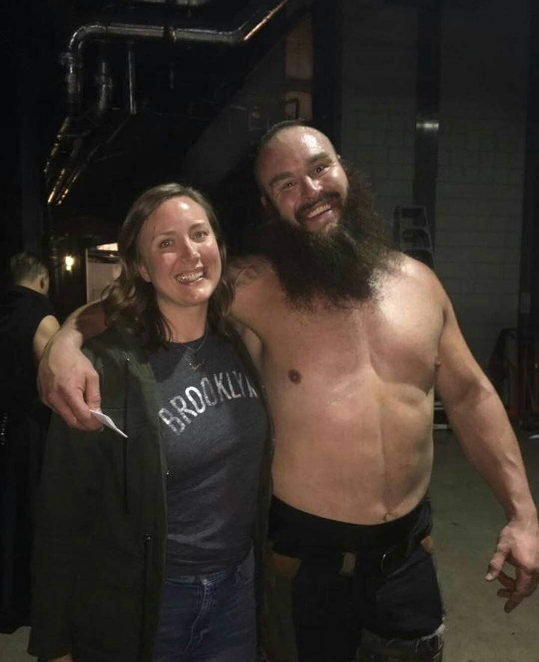 Braun Strowman with his sister backstage at Raw