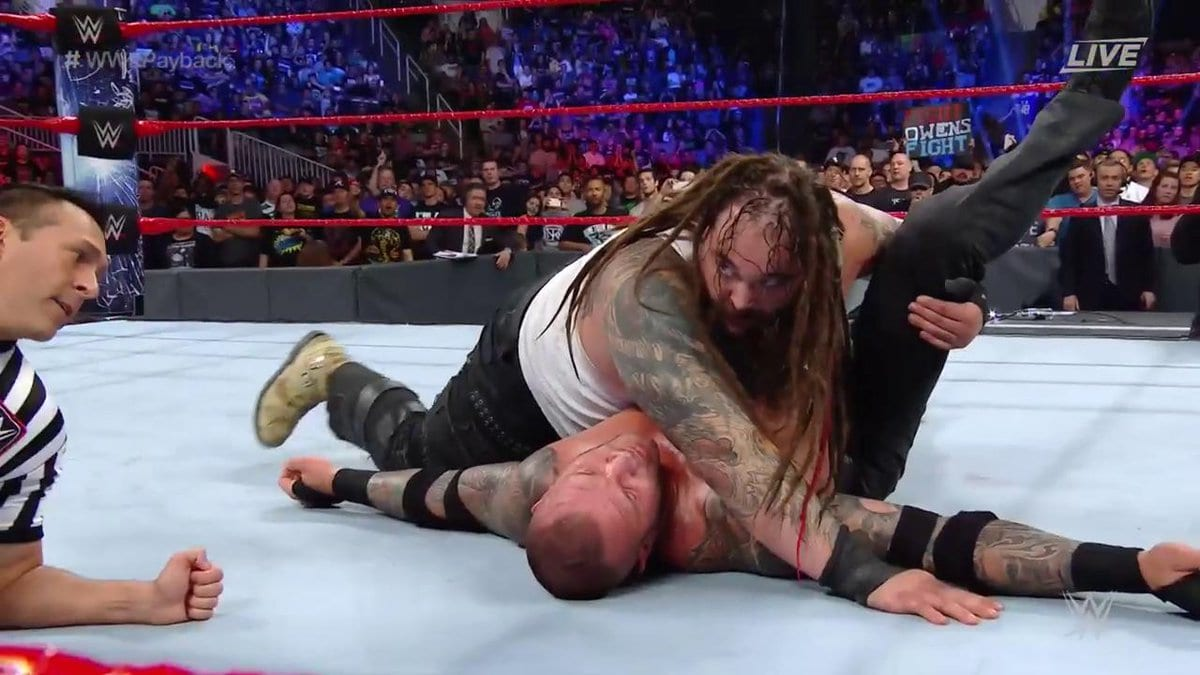 Bray Wyatt defeats Randy Orton in the House of Horrors match at Payback 2017 with help from Jinder Mahal