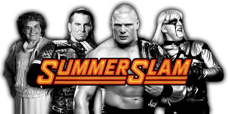 Brock Lesnar SummerSlam 2017 Opponent, Broken Matt Hardy, Goldust, Mae Young Classic Tournament