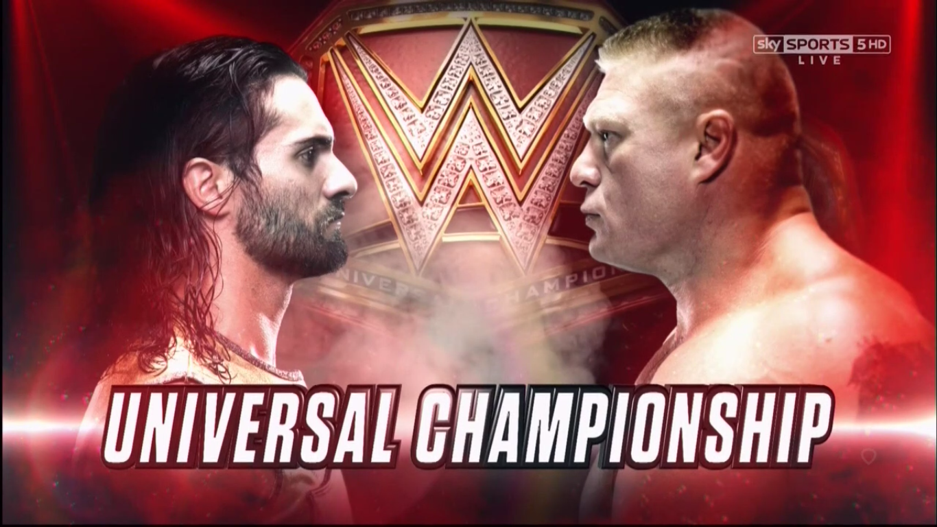 Brock Lesnar vs. Seth Rollins - WWE Universal Championship Match