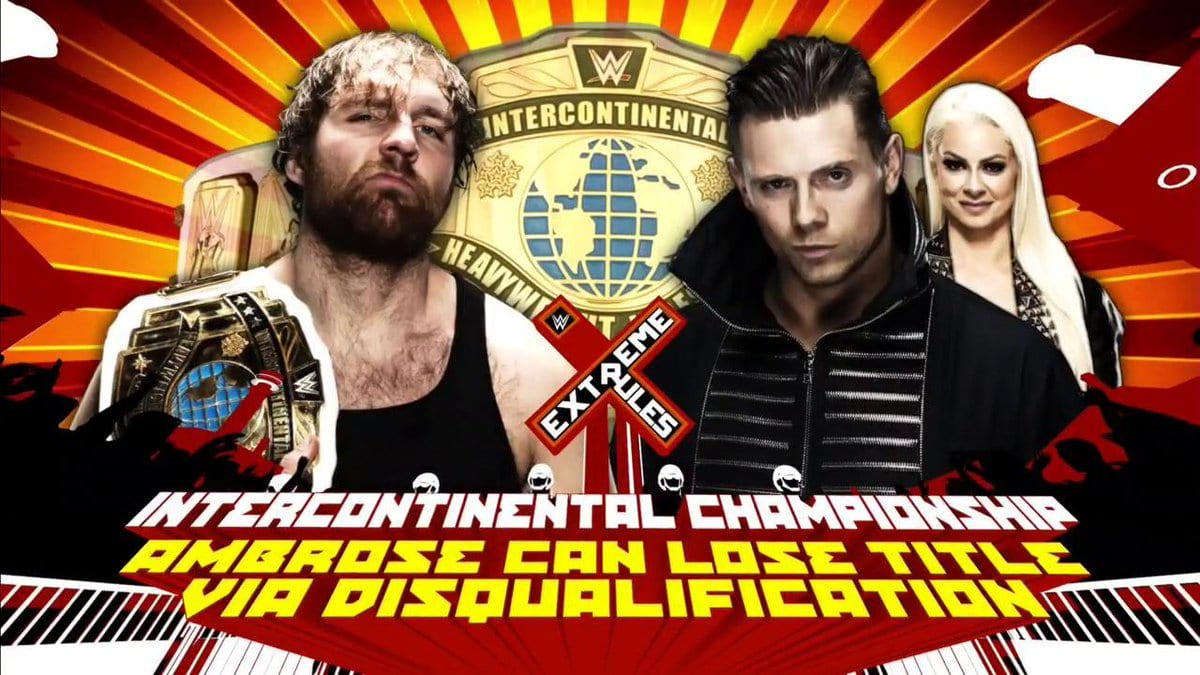 Extreme Rules 2017 - Dean Ambrose vs. The Miz (Ambrose will lose the Title if he gets disqualified)