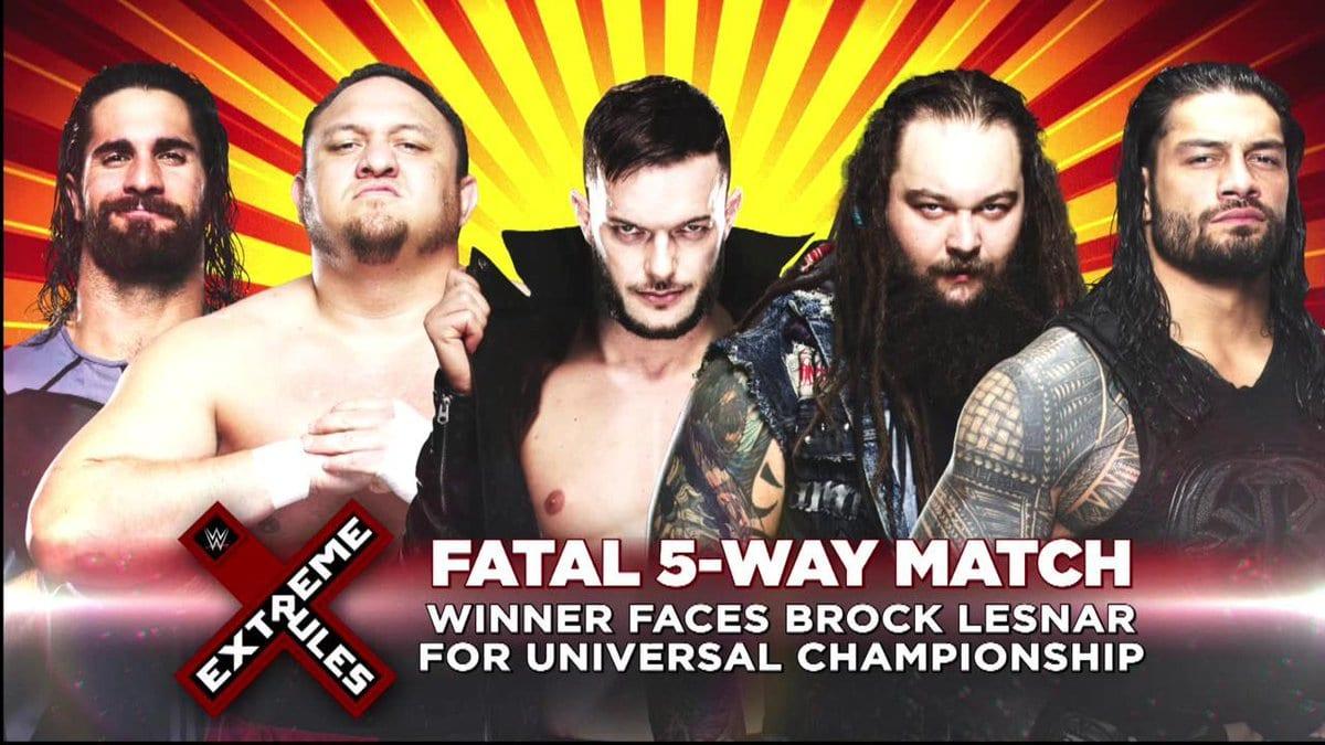 Extreme Rules 2017 - Roman Reigns vs. Seth Rollins vs. Finn Balor vs. Bray Wyatt vs. Samoa Joe