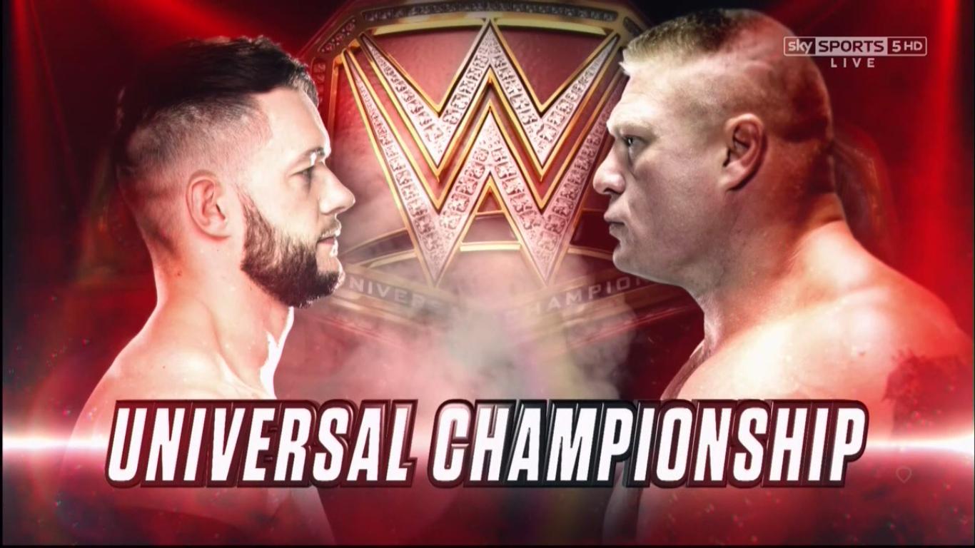 Finn Balor vs. Brock Lesnar - WWE Universal Championship Match