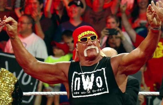 Hulk Hogan during his birthday celebration on Raw in 2014