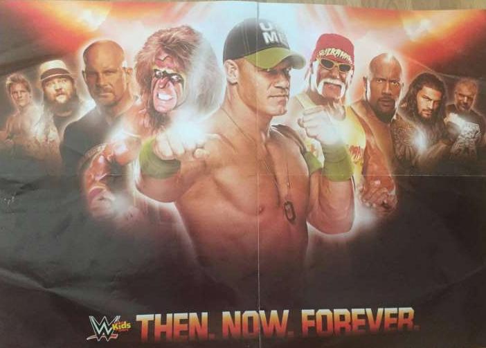 Hulk Hogan featured on the poster of a WWE kids magazine