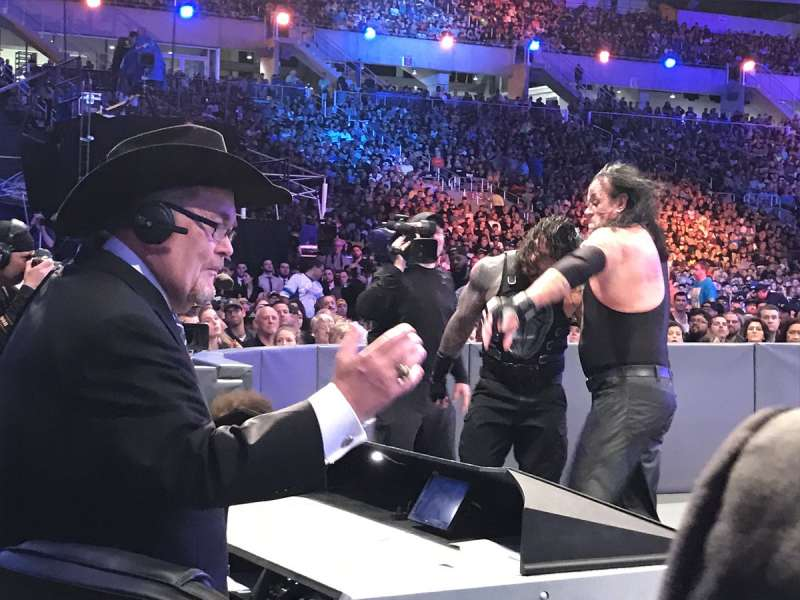 Jim Ross returned to WWE and called the main event of WrestleMania 33