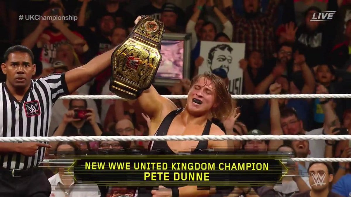 Pete Dunne wins WWE United Kingdom Championship at NXT TakeOver Chicago