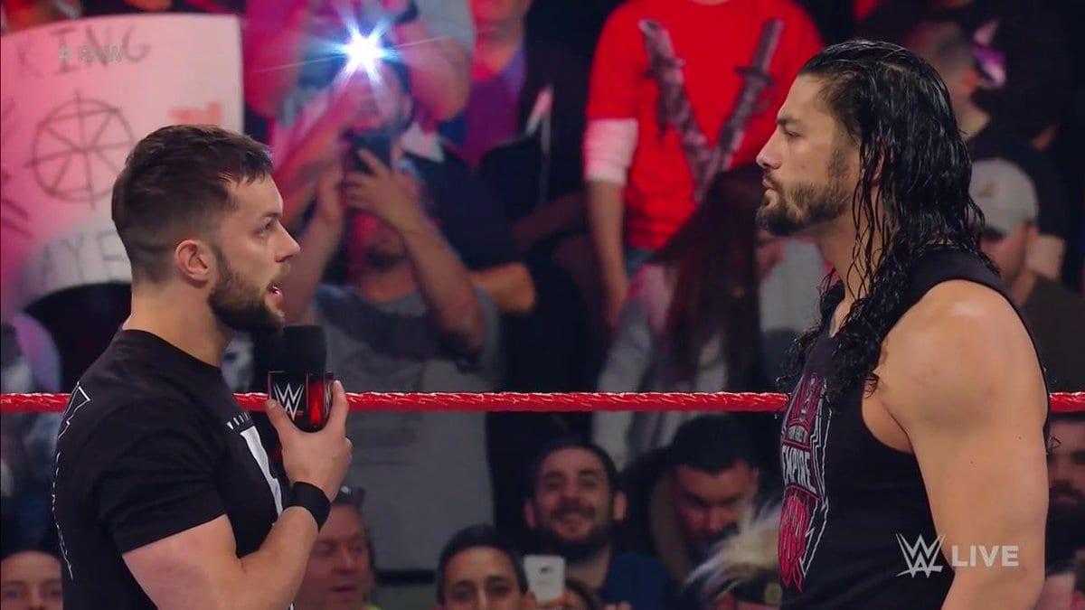 Roman Reigns defeats Finn Balor clean on Monday Night Raw