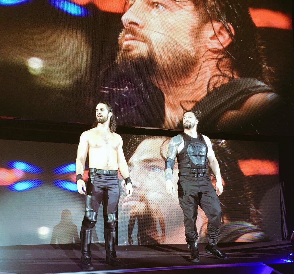 Seth Rollins & Roman Reigns team up at WWE Live Event