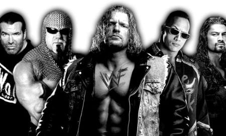 Triple H, Scott Steiner, Scott Hall, The Rock, Roman Reigns