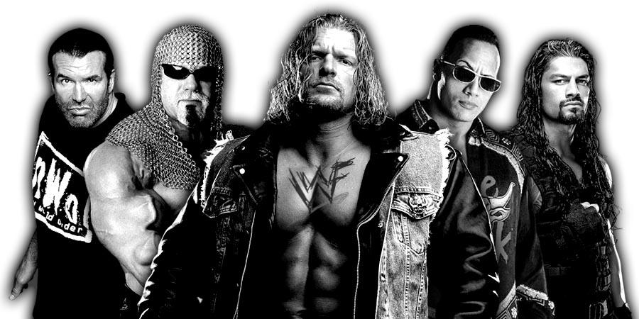 Triple H, Scott Steiner, Scott Hall, The Rock, Roman Reigns