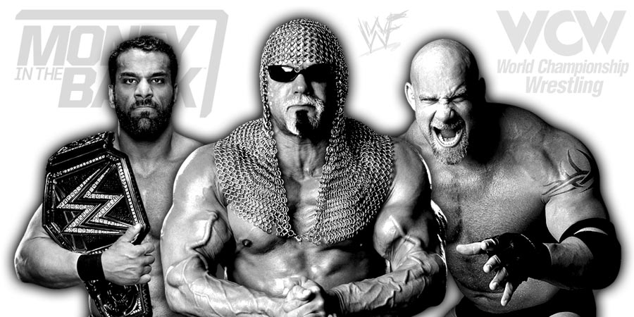 WWE Champion Jinder Mahal, Goldberg, Scott Steiner