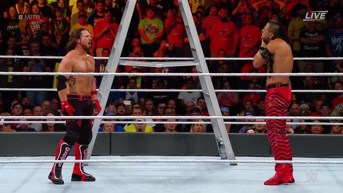 AJ Styles & Shinsuke Nakamura fight at Money In The Bank 2017