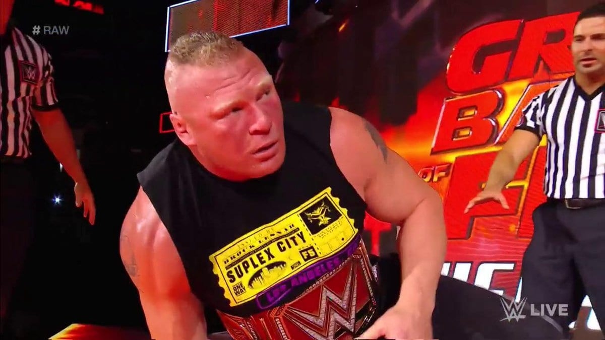 Brock Lesnar shocked after attack from Samoa Joe