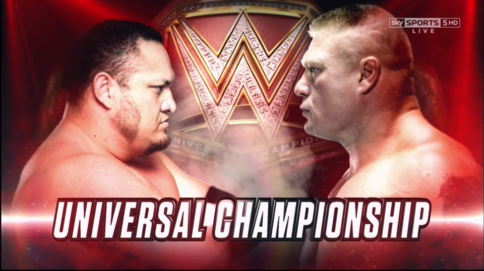 Brock Lesnar vs. Samoa Joe - WWE Universal Championship Match (Great Balls of Fire 2017)