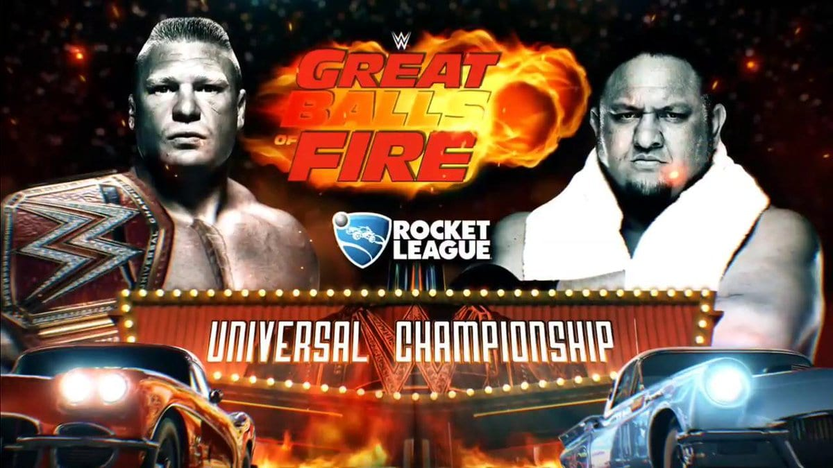 Brock Lesnar vs. Samoa Joe - WWE Universal Championship (New Updated Great Balls of Fire 2017 Logo)